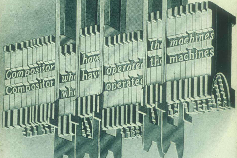 Linotype matrices