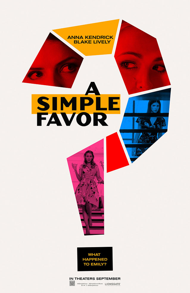 LA's theatrical one-sheet for A Simple Favor