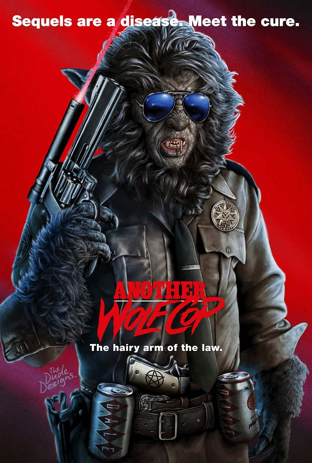 Tom Hodge's poster for Another WolfCop