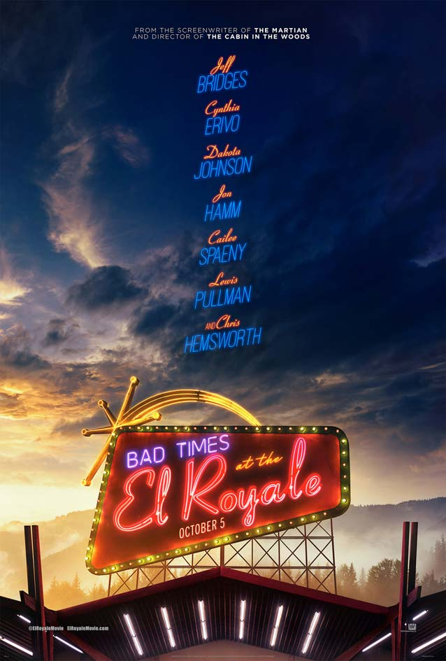 LA's theatrical one-sheet for Bad Times at the El Royale