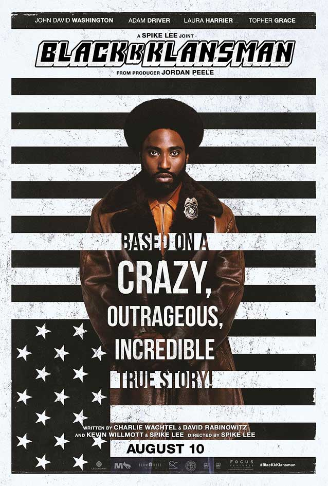 Gravillis, Inc.' theatrical one-sheet for BlacKkKlansman