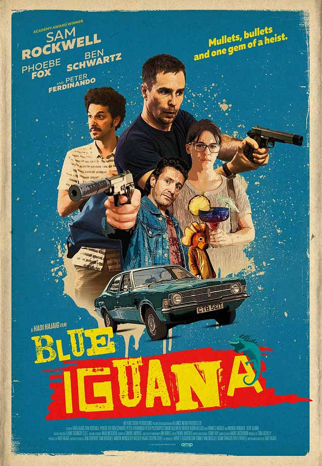 Theatrical one-sheet for Blue Iguana