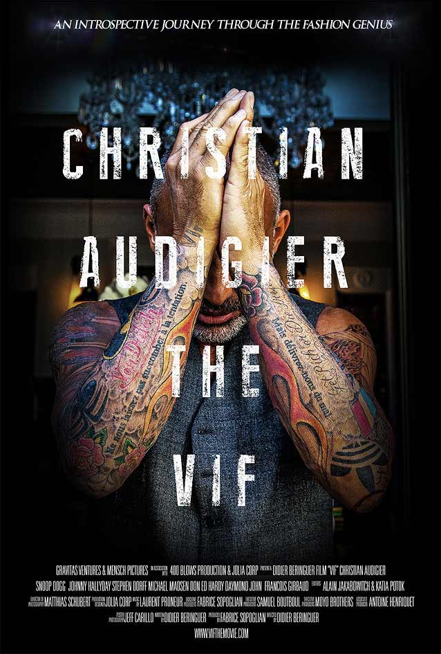 Theatrical one-sheet for Christian Audigier the Vif