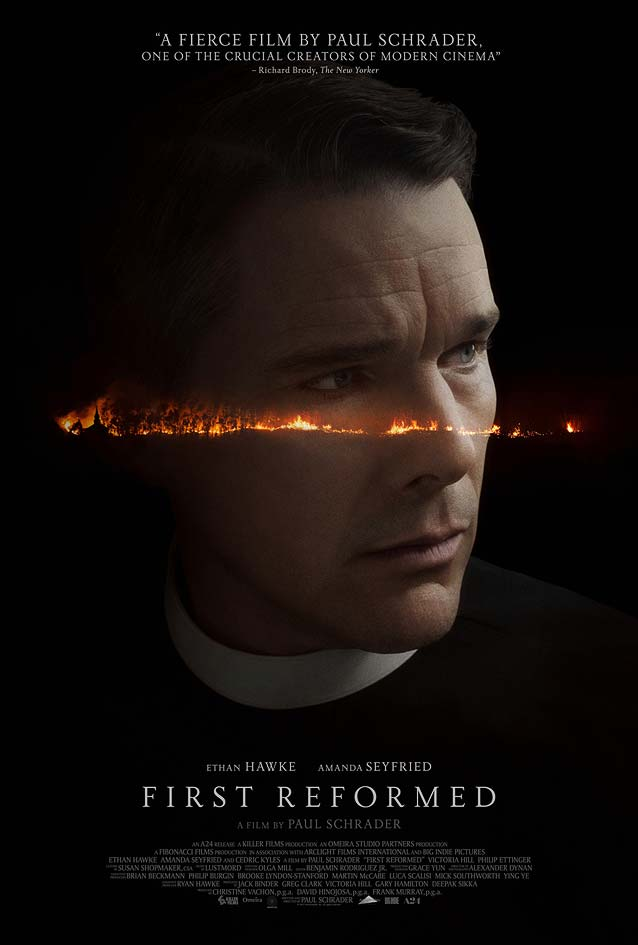 Theatrical one-sheet for First Reformed
