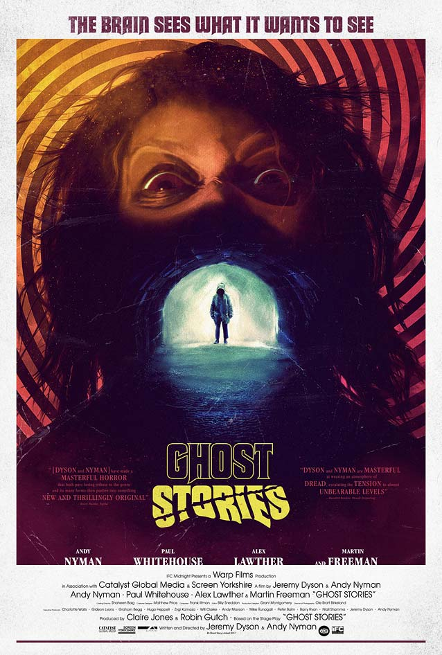 Main theatrical one-sheet for Ghost Stories