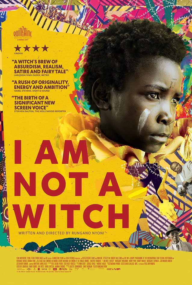 Andrew Bannister's theatrical one-sheet for I Am Not a Witch