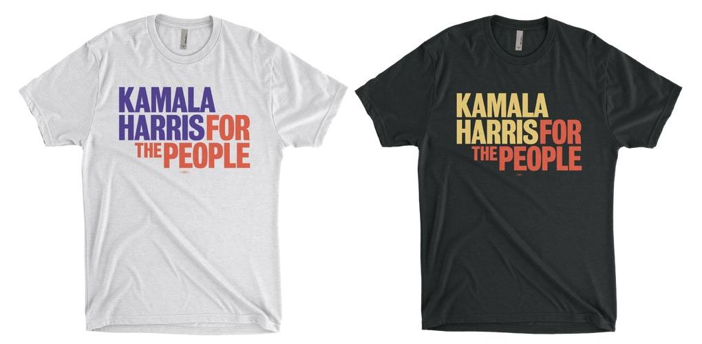 Kamala Harris: For the People white and black T-shirts