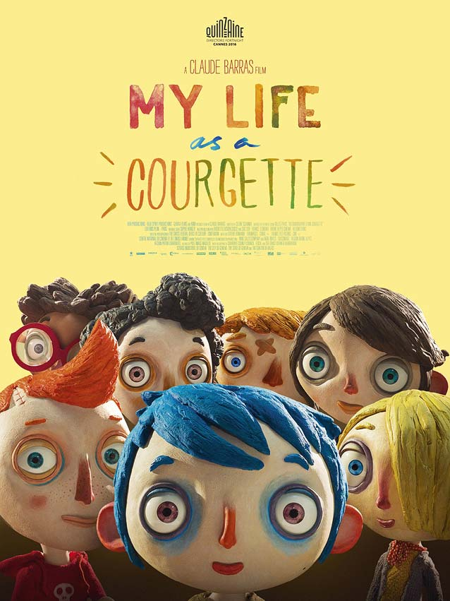 Film poster for My Life as a Courgette