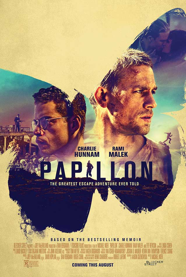 Bond's theatrical one-sheet for Papillon