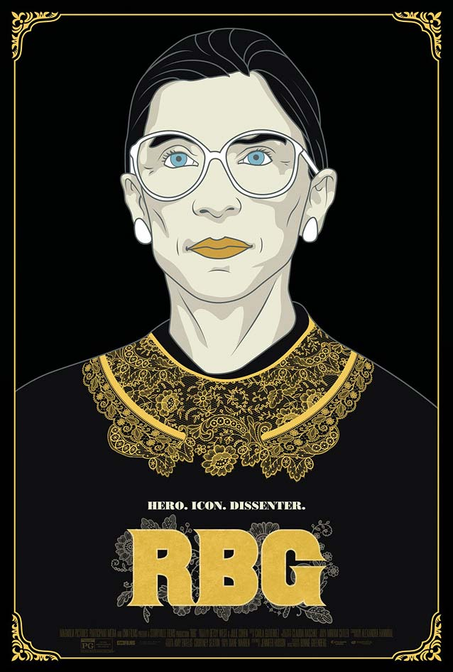 Gravillis, Inc's theatrical one-sheet for RBG