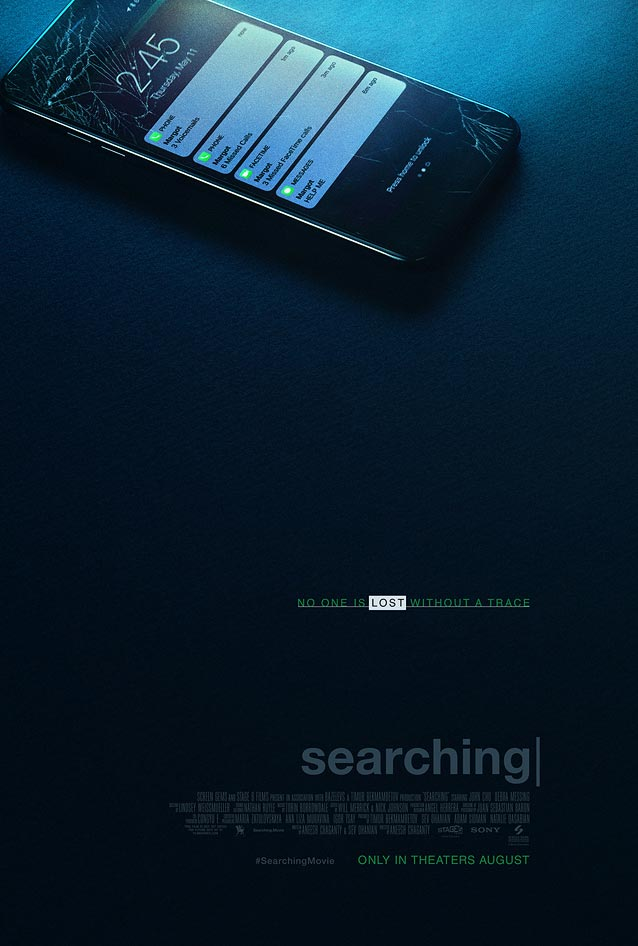Art Machine's theatrical one-sheet for Searching