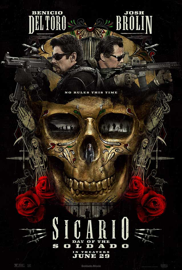 Thatrical one-sheet for Sicario: Day of the Soldado