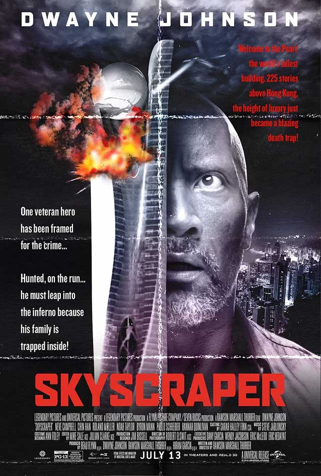 Poster for Skyscraper paying homage to Die Hard