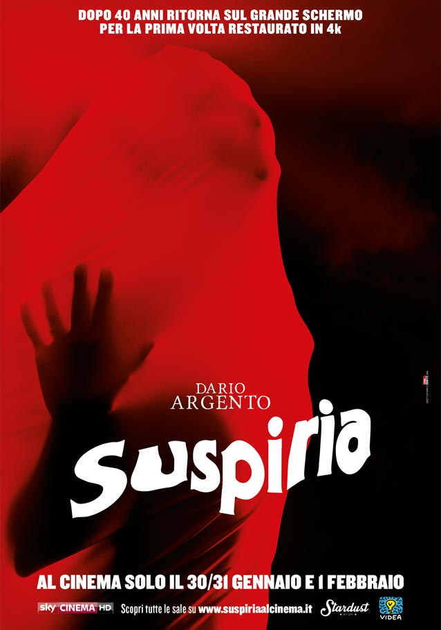 Theatrical one-sheet for the 4K restoration of Suspiria (1977)