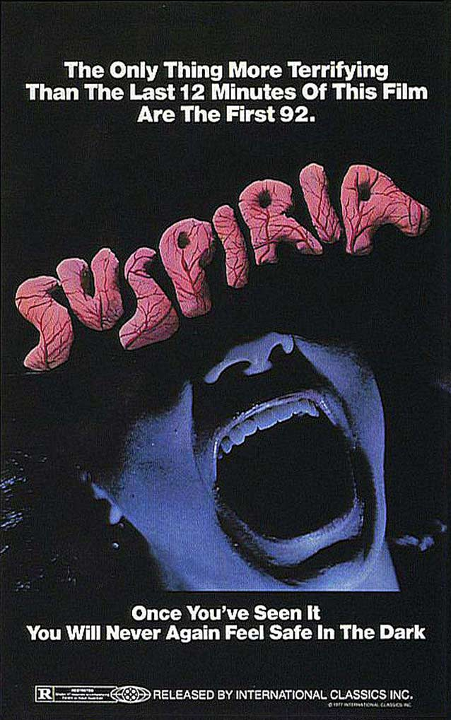 International theatrical one-sheet for Suspiria (1977)