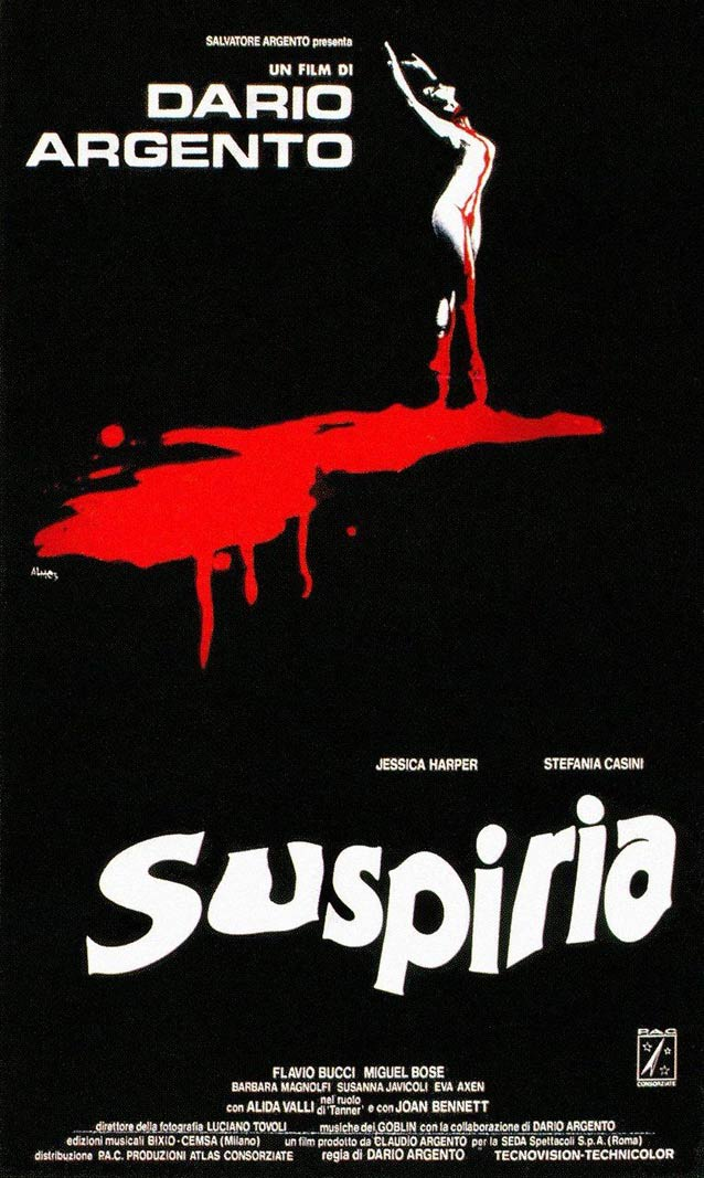 Italian domestic one-sheet for Suspiria (1977)