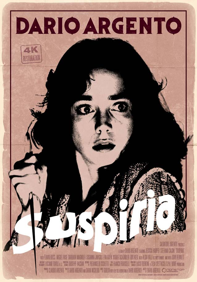 Kellerman Design's poster for the 4K restoration of Suspiria (1977)