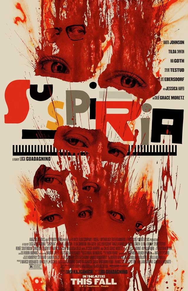 LA's theatrical one-sheet for Suspiria