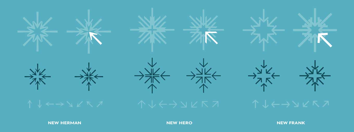 Construction of the snowflakes for Newlyn