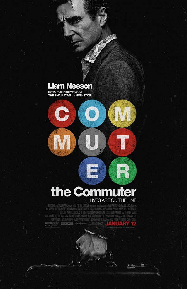 Main theatrical poster for The Commuter