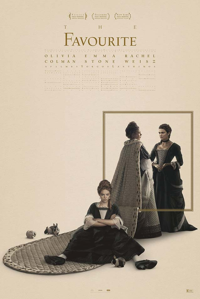 Midnight Oil's theatrical one-sheet for The Favourite
