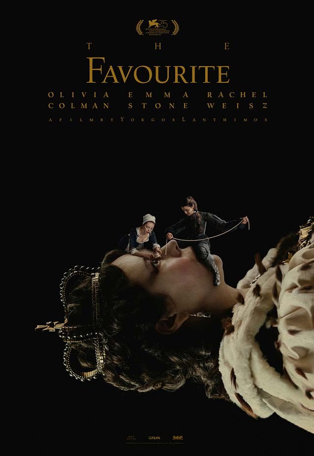 Vasilis Marmatakis' theatrical one-sheet for The Favourite