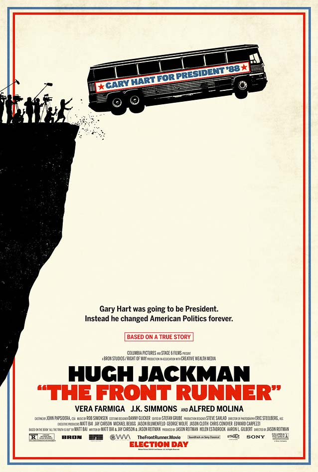 Manheim's theatrical one-sheet for The Front Runner