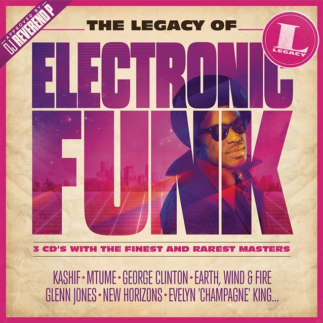 Hachim-Bahous' album sleeve artwork for Sony Music's The Legacy of Electronic Funk