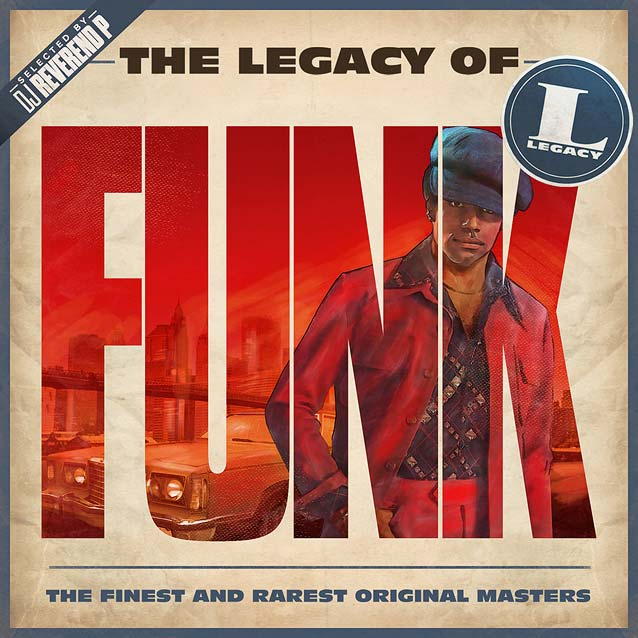 Hachim-Bahous' album sleeve artwork for Sony Music's The Legacy of Funk