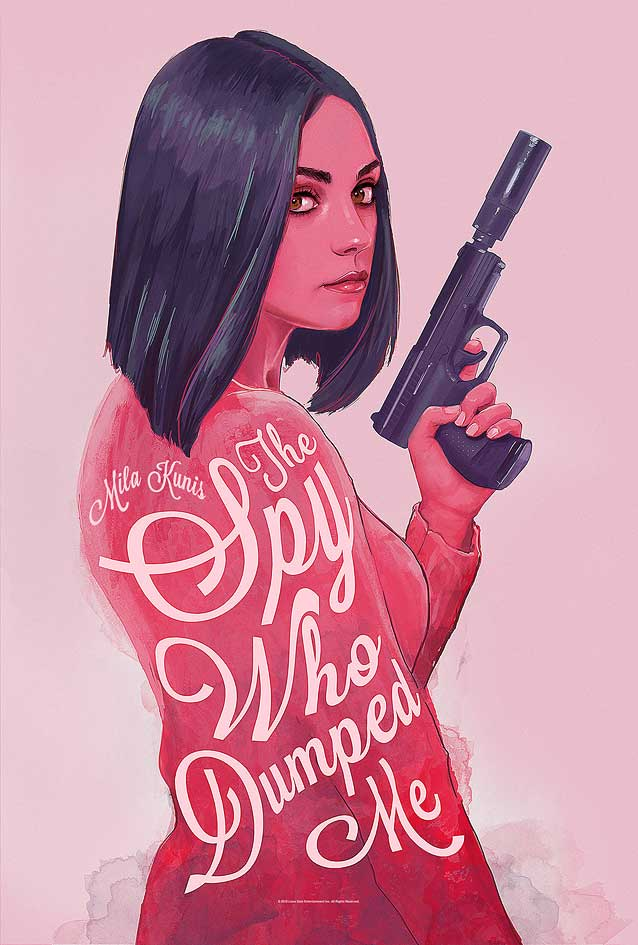 June Bhongjan's alternate poster for The Spy Who Dumped Me