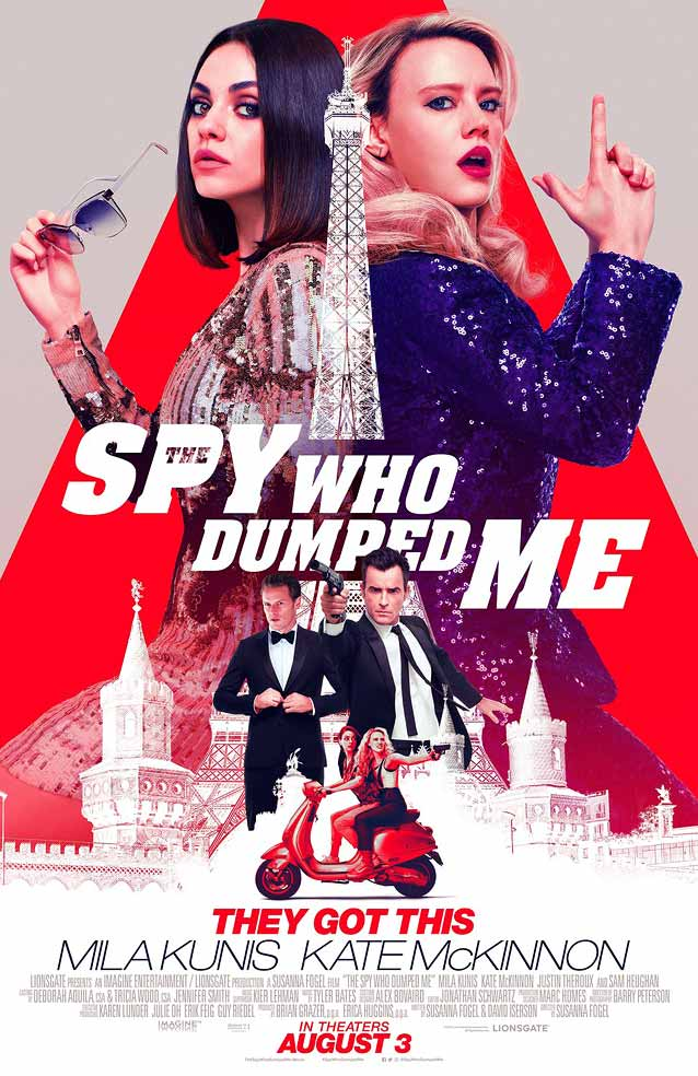 LA's main theatrical one-sheet for The Spy Who Dumped Me