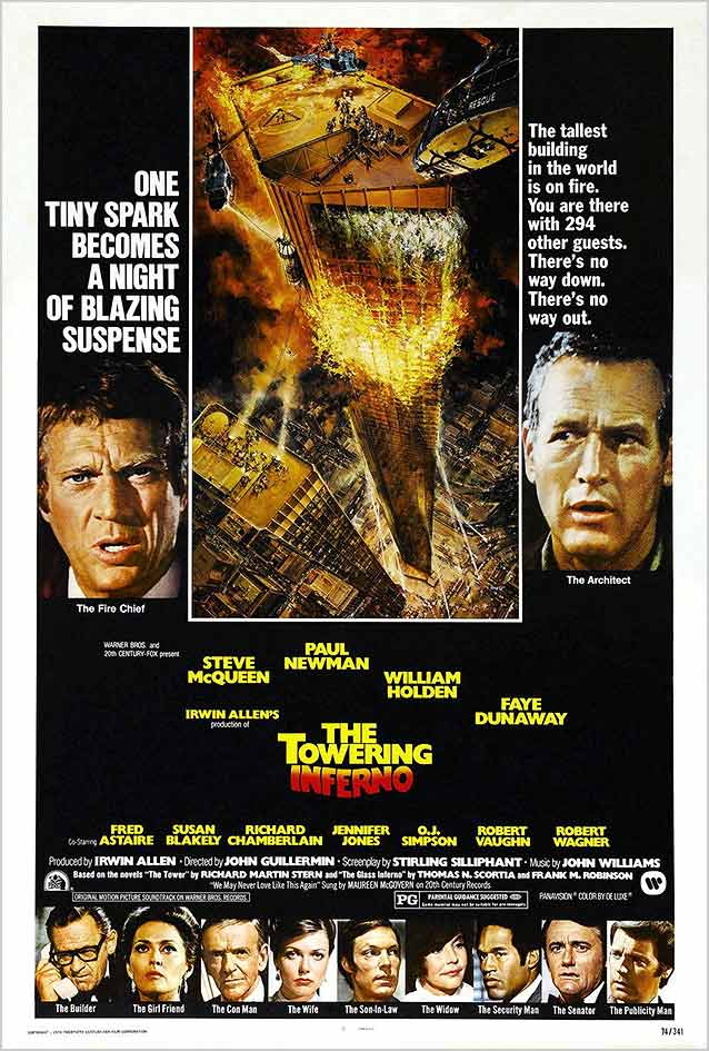 Theatrical one-sheet for The Towering Inferno