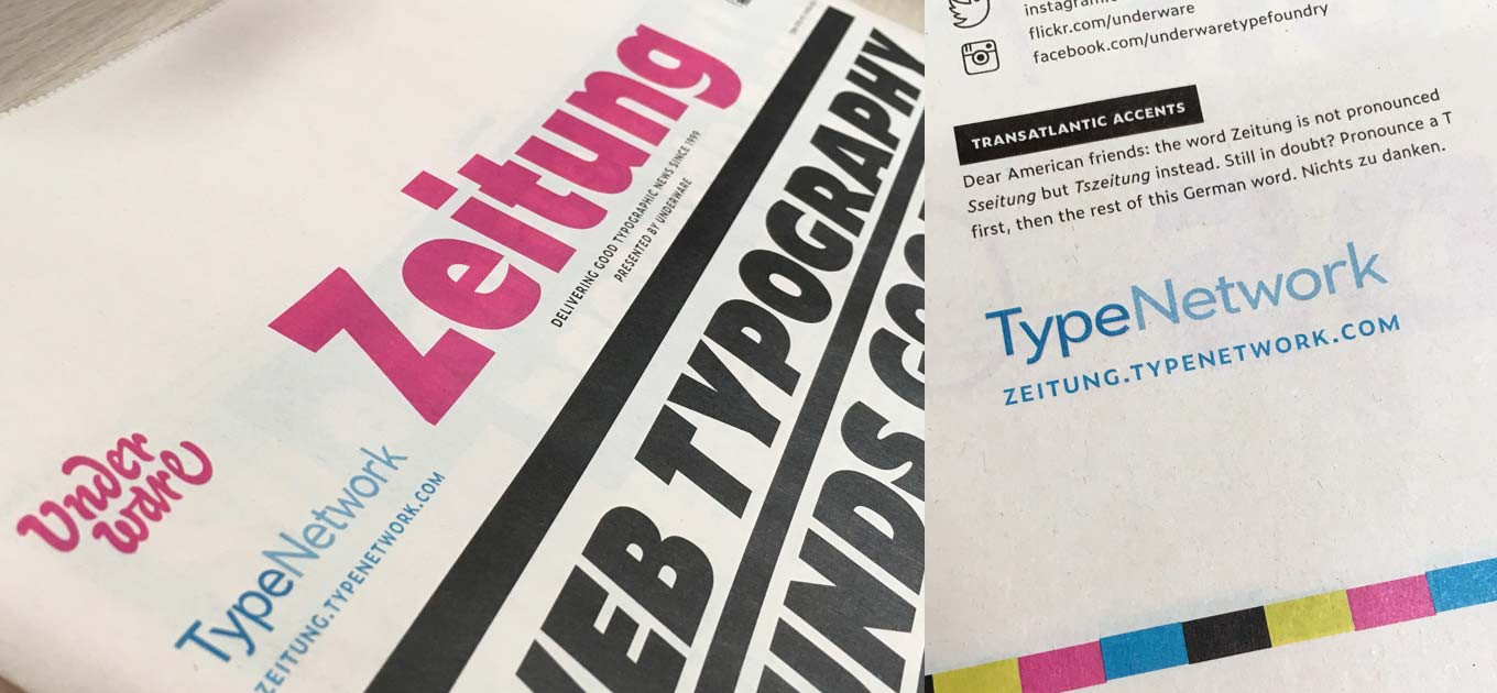 Zeitung newspaper specimen by Underware