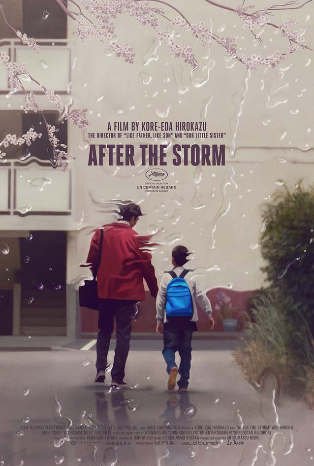 Film poster for Umi Yori Mo Mada Fukaku (After The Storm)