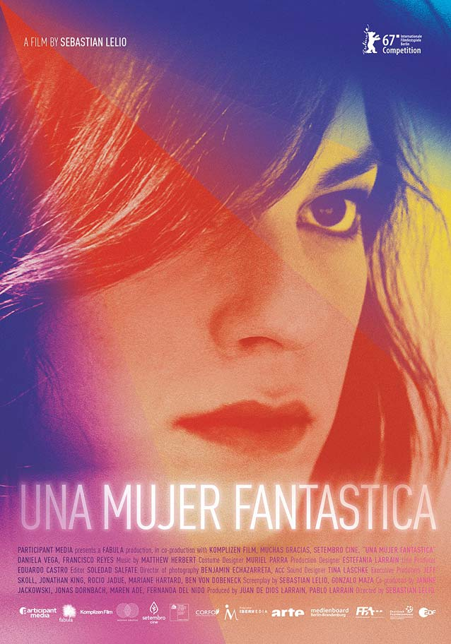Poster for Una mujer fantástica (A Fantastic Woman)
