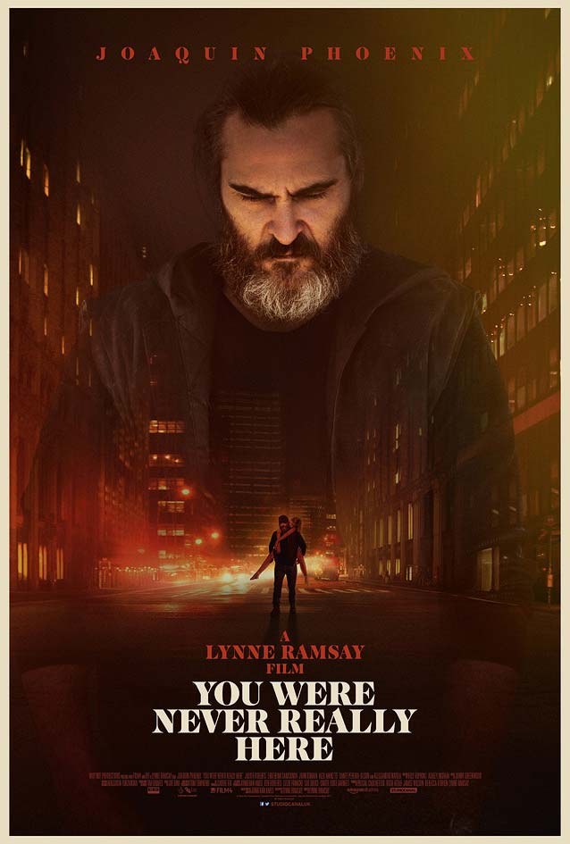 Empire Design's main theatrical one-sheet for You Were Never Really Here
